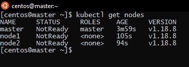 cluster nodes status