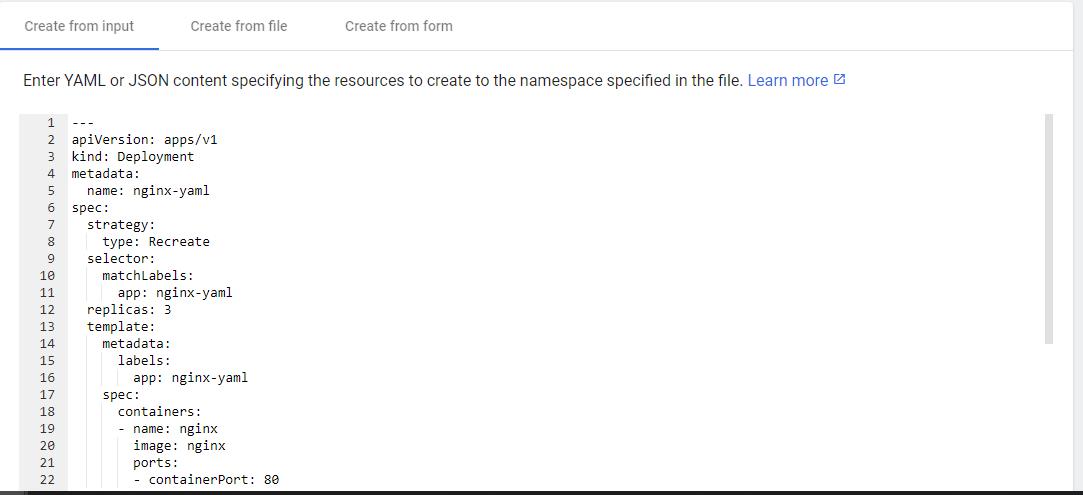 Deploying App using YAML