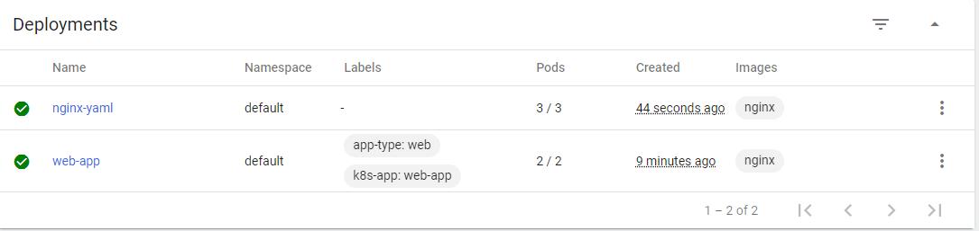 checking app deployment